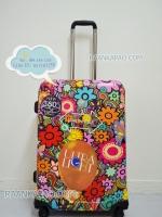 กระเป๋าเดินทางคุณภาพดี ยี่ห้อ Hi POLO ขนาด 24 นิ้ว ลายดอกไม้