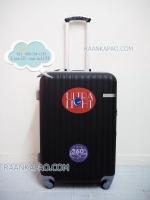 กระเป๋าเดินทาง คลิปล็อค Super abs 100% ขนาด 24 นิ้ว สีดำ