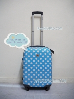 กระเป๋าเดินทางลายจุดสีฟ้า 20 นิ้ว big kawaii dot