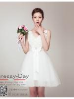 รหัส ชุดราตรีสั้น : BA291 ชุดแซก pre wedding ชุดราตรี after party ประดับดอกไม้ที่ชุดเพื่มความสวยหวานให้กับผู้สวมใส่ กระโปรงซ้อนเป็นชั้นๆ ใส่ไปงานแต่งงานกลางวัน งานรับปริญญา งานเลี้ยง งานประกวด ถ่ายพรีเวดดิ้ง ชุดงานหมั้น ชุดพิธีกร สวยมากค่ะ