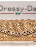 กระเป๋าออกงาน TE014: กระเป๋าออกงานพร้อมส่ง สีแชมเปญ ดีเทลคริสตอลสุดหรู ราคาถูกกว่าห้าง ถือออกงาน หรือ สะพายออกงาน สวย หรู เหมือนดารา