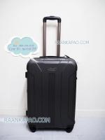 กระเป๋าเดินทาง fiber abs สีเทาเข้ม ไซส์ 24 นิ้ว ยี่ห้อPolonaise