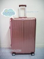 กระเป๋าเดินทางพรีเมี่ยม คุณภาพดีราคาถูก 100% PC/ABS ไซส์ 28 นิ้ว ROSE GOLD