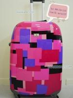กระเป๋าเดินทาง รุ่น Square Color ไซส์ 28 นิ้ว โทนสีชมพู