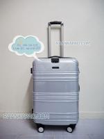 กระเป๋าเดินทาง Hipolo ขนาด 24 นิ้ว สีขาวเคฟล่า มีที่ล็อคล้อ