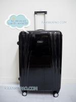 กระเป๋าเดินทาง PC ขนาด 28 นิ้ว สีดำหน้าเรียบเงา Hipolo รุ่น 13012
