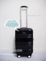 กระเป๋าเดินทาง HiPOLO รุ่นพิเศษ สีกรมเคฟล่า มีที่ล็อคล้อ ขนาด 20 นิ้ว Carry On น้ำหนักเบา