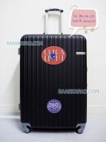 กระเป๋าเดินทางล้อลาก Super ABS 100% สีดำล้วน ขนาด 28 นิ้ว ทนทานมาก