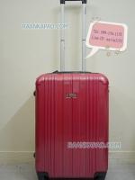 กระเป๋าเดินทาง ยี่ห้อ GIOSWIS ไซส์ 22 นิ้ว 4 ล้อลาก สีชมพูผิวเงา