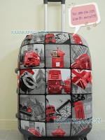กระเป๋าเดินทาง 28 นิ้ว ลายตู้จดหมาย+รถเมล์แดง