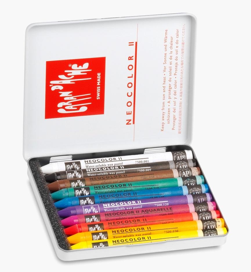 ชุดสีเทียนน้ำมันระบายน้ำ Caran d'ache Neocolor II 10สี