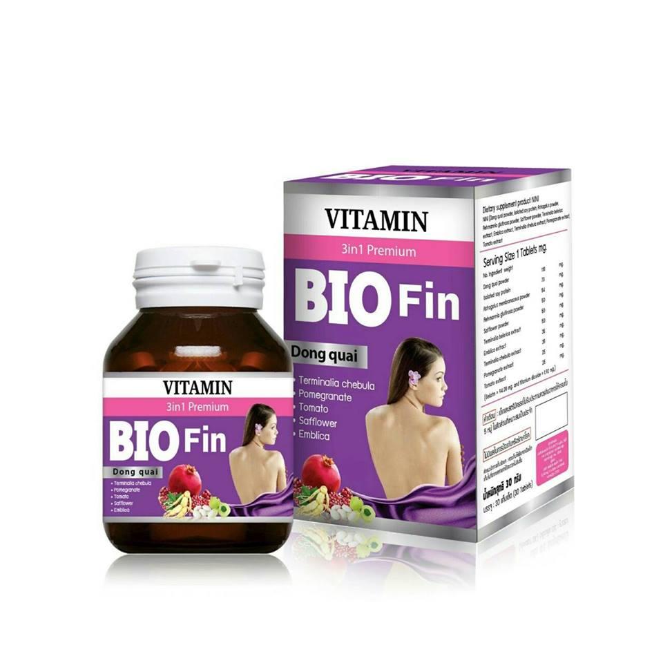 BIO Fin VITAMIN 3in1 Premium ไบโอ ฟิน วิตามิน อาหารเสริมสำหรับผู้หญิง คุณค่าที่คุณคู่ควร