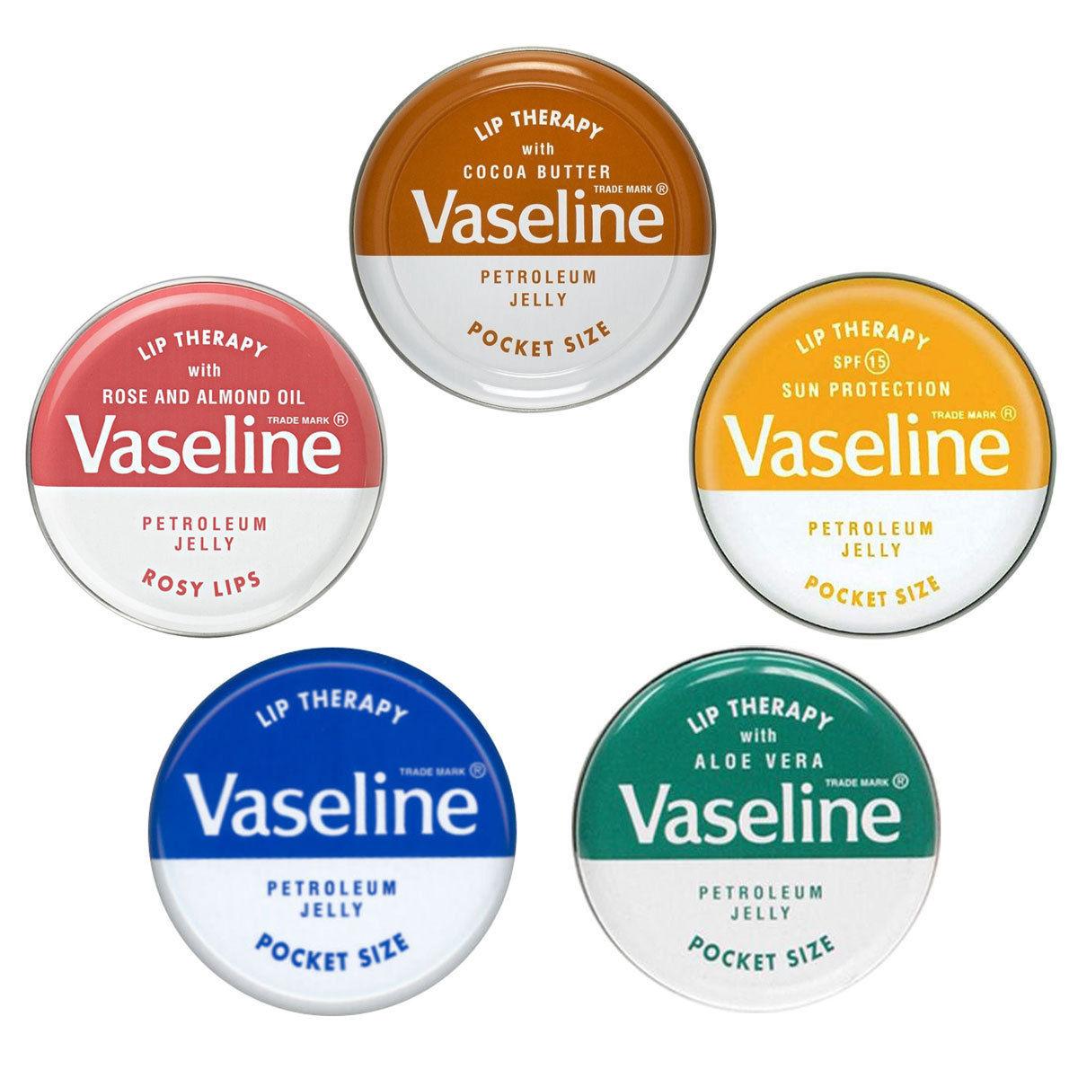 Vaseline Lip Therapy Petroleum Jelly Pocket Size ลิปบาล์มวาสลีนตลับเหล็ก