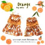 เสื้อผ้าสุนัข ชุดกระโปรงสุนัข เซทผลไม้ ลายส้ม