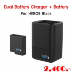 Dual Battery Charger + Battery for HERO5 Black