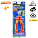 SOLEX คีมปากเฉียง 6 นิ้ว ด้ามหุ้มฉนวน (VDE. กันไฟ 1000V.)