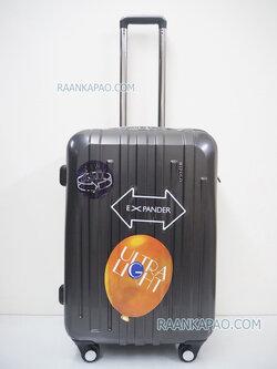 กระเป๋าเดินทางยี่ห้อไฮโปโล 90%PC รุ่น Hipolo-1156 สีเทา ขนาด 24 นิ้ว ส่งฟรี