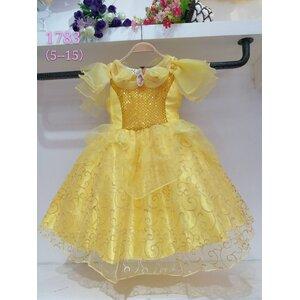 ชุดเดรสเจ้าหญิงเบลล์ แขนตุ๊กตาสีเหลือง