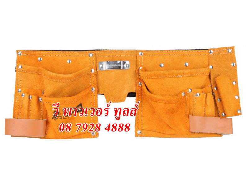 กระเป๋าหนังแท้ คาดเอวช่างมืออาชีพ พร้อมช่องใส่เครื่องมือ 11ช่อง