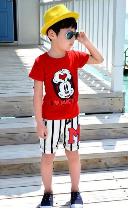 ชุดเด็ก : เสื้อยืดมิีกกี้เมาส์+กางเกง