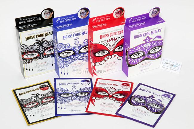 Mediheal Dress Code Mask มาส์กหน้ากากแฟนซี มาส์กหน้าใส ฟื้นฟูผิวให้แข็งแรง ลดริ้วรอย