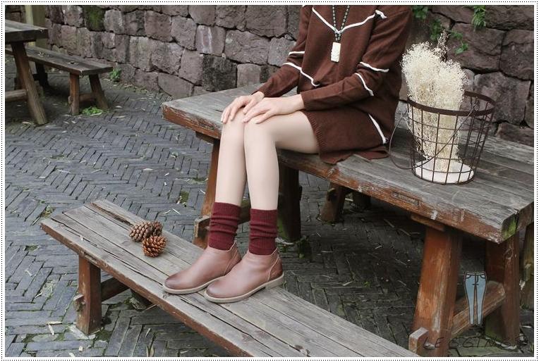 ถุงเท้าวูลขนสัตว์ ถุงเท้ากันหนาว มี 10 สี