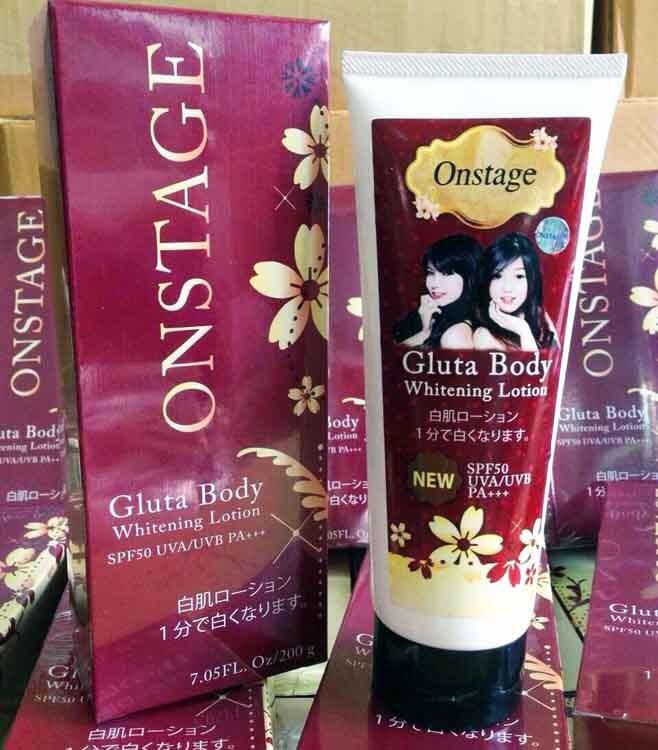 Onstage Gluta Body Whitening Lotion with Sunscreen ออนสเตจ กลูต้า บอดี้ ไวท์เทนนิ่ง โลชั่น วิธ ซันสกรีน