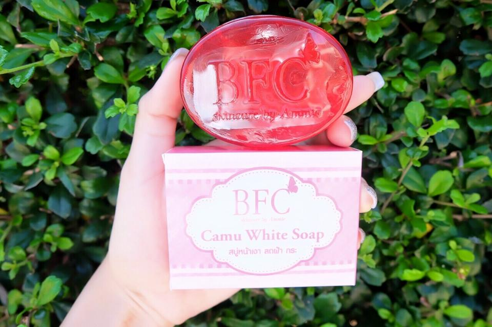 BFC Camu Camu soap บีเอฟซี คามู ไวท์ โซฟ สบู่หน้าเงา ลดฝ้า กระ จุดด่างดำ