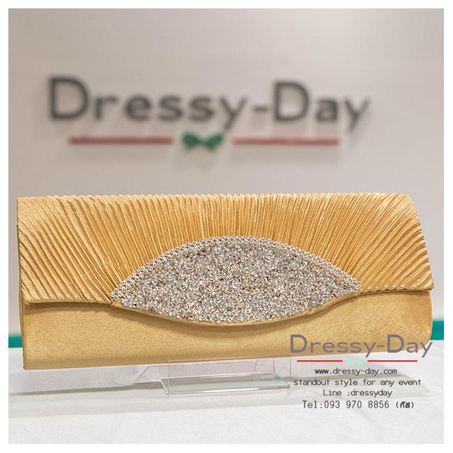 กระเป๋าออกงาน TE020: กระเป๋าออกงานพร้อมส่ง ทอง ดีเทลเพชรสุดหรู ราคาถูกกว่าห้าง ถือออกงาน หรือ สะพายออกงาน สวย หรู ดูดีมากค่ะ