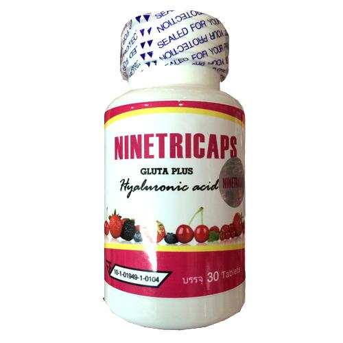 Ninetricaps Gluta Plus Hyaluronic Acid วิตามิน ผิวขาวใส ไร้ริ้วรอย
