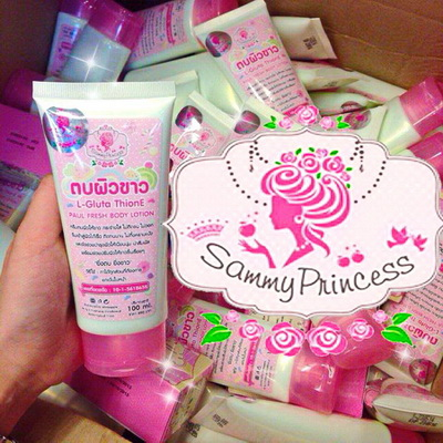 ครีมตบผิวขาว by Sammy Princess L-gluta ThionE Paul Fresh Body Lotion