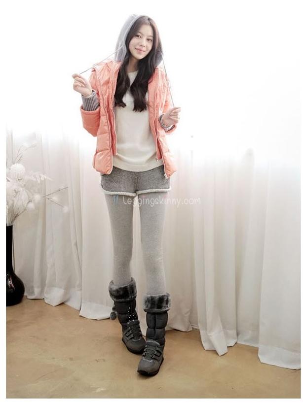 เลกกิ้งกางเกงขาสั้นกันหนาวบุขนแกะ ทรงสปอร์ต มี 3 สี ปลีก 550 / ส่ง 520