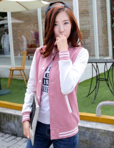 เสื้อคลุมแฟชั่น Classic stlye สวยปนเท่ห์สไตล์เกาหลี รหัส 1662-ชมพู