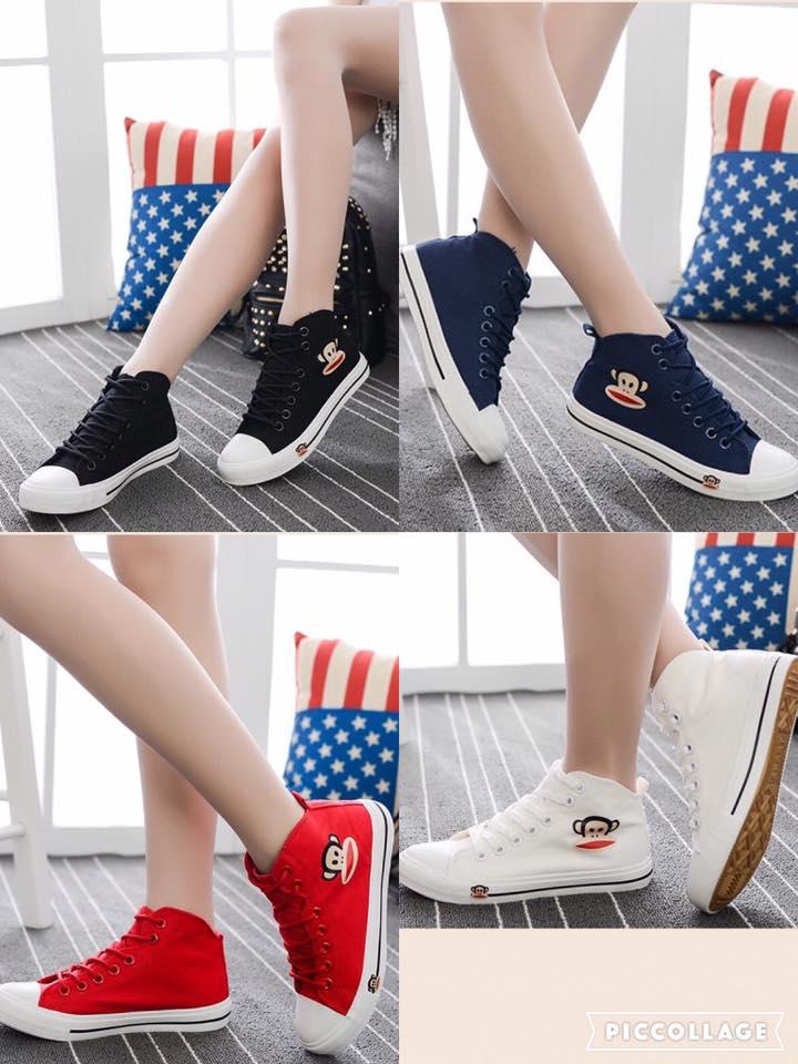 รองเท้าผ้าใบหุ้มข้อ เด็กโต