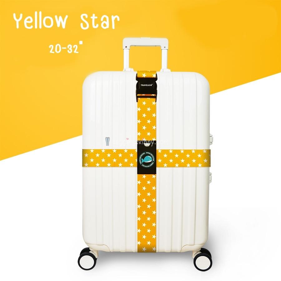 สายรัดกระเป๋าเดินทางรุ่นกากบาท รัดแนวนอน-ตั้ง 2 เส้น มี 5 สี