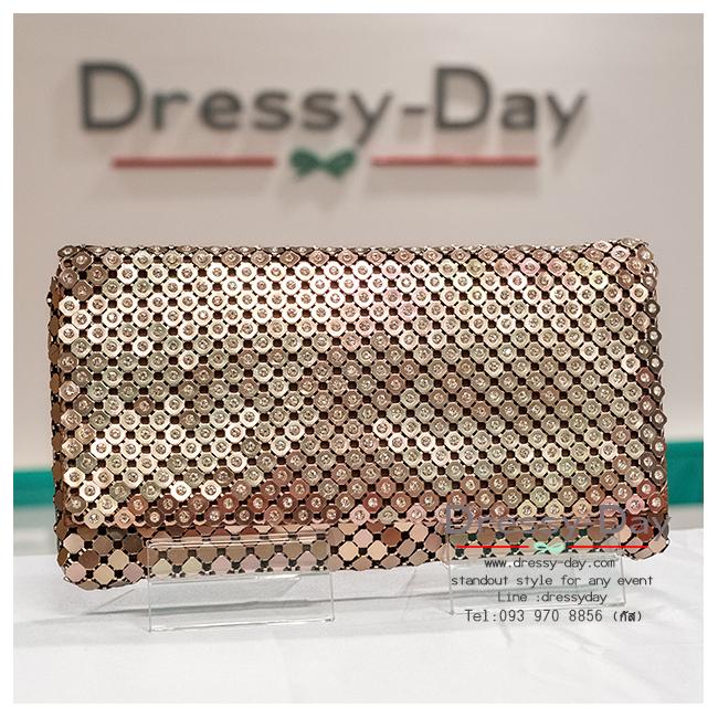 กระเป๋าออกงาน TE001: กระเป๋าออกงานพร้อมส่ง สีน้ำตาล สวย เก๋ หรู ราคาถูกกว่าห้าง ถือออกงาน หรือ สะพายออกงาน น่ารักที่สุด.