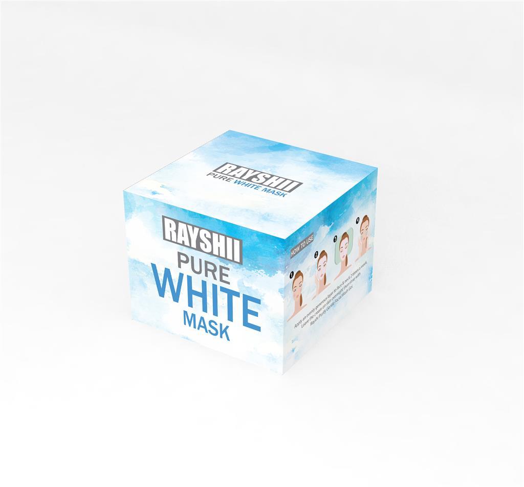 RAYSHII PURE WHITE MASK เรชิ เพียวไวท์ มาส์ก ที่สุดของสลิปปิ้งมาส์ก ฟื้นฟูผิวให้ขาว กระจ่างใส