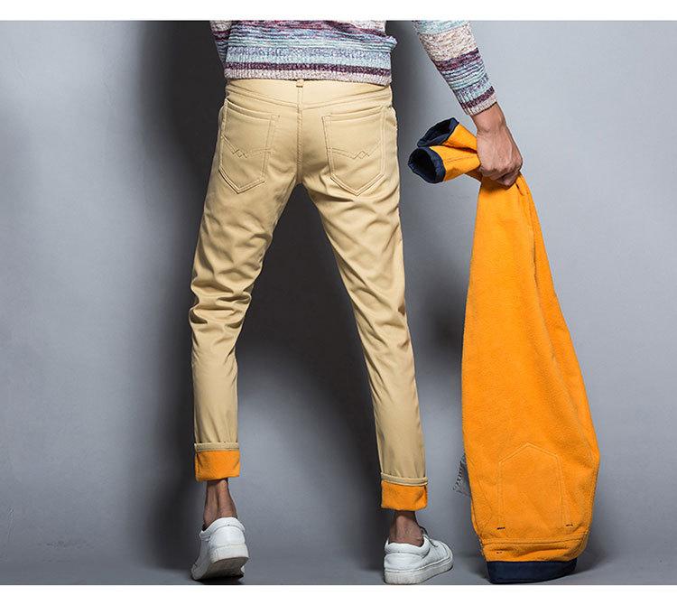 กางเกงกันหนาวผ้าเกาหลีผู้ชาย แบบบุขนแกะ กันหนาว มี 6 สี