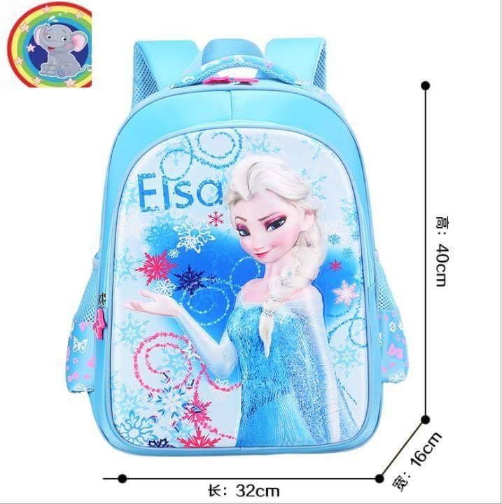 กระเป๋าเป้ลายเอลซ่า สีฟ้า