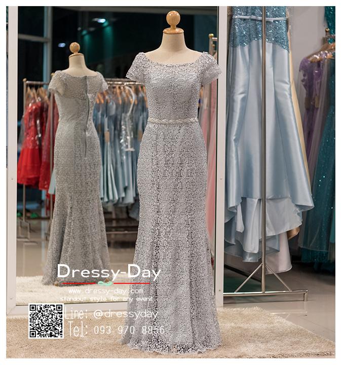 รหัส ชุดราตรียาว : PF023 ชุดราตรียาวสีเทา มีเพรชประดับที่เอว เหมาะใส่เป็นชุดไปงานแต่งาน ชุดเดรสออกงานกลางคืน งานแต่งงาน งานกาล่าดินเนอร์ งานเลี้ยง งานพรอม งานรับกระบี่