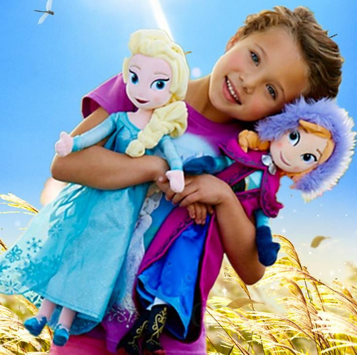 ของเล่นเด็ก : ตุ๊กตาแอลซ่า,อันนา ขนาด 50 ซม.