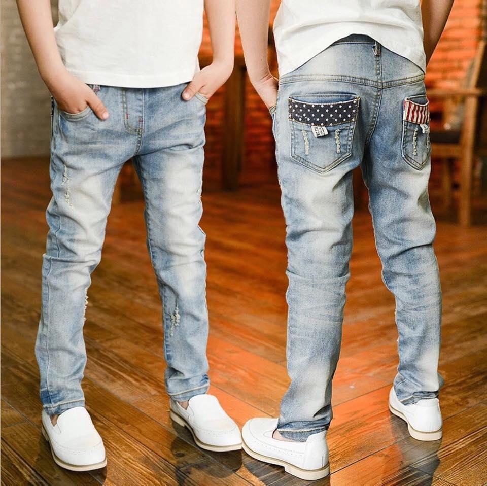 ชุดเด็ก : กางเกงยีนส์ ขายาว แบบ C