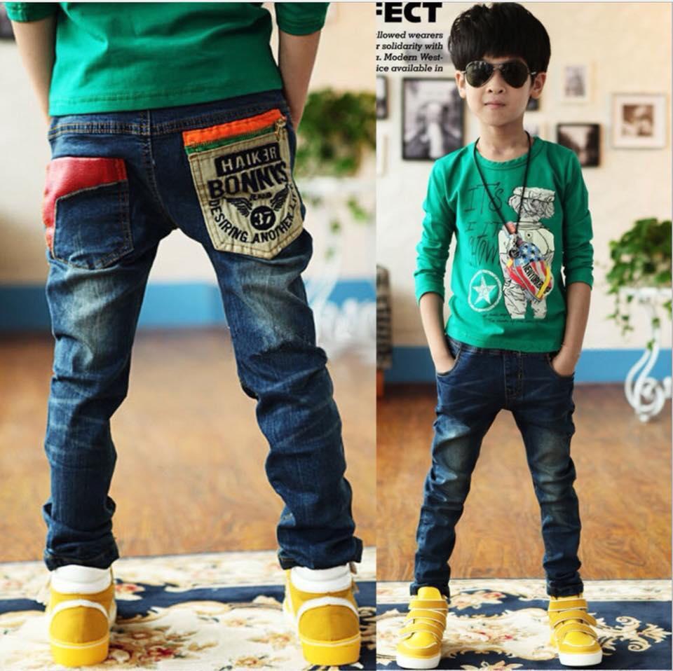 ชุดเด็ก : กางเกงยีนส์ ขายาว แบบ B