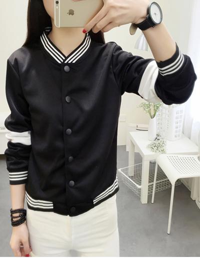 เสื้อคลุมแฟชั่น ใส่่ได้ทุกฤดูสวยเท่ห์สไตล์เกาหลี-1560-สีดำ