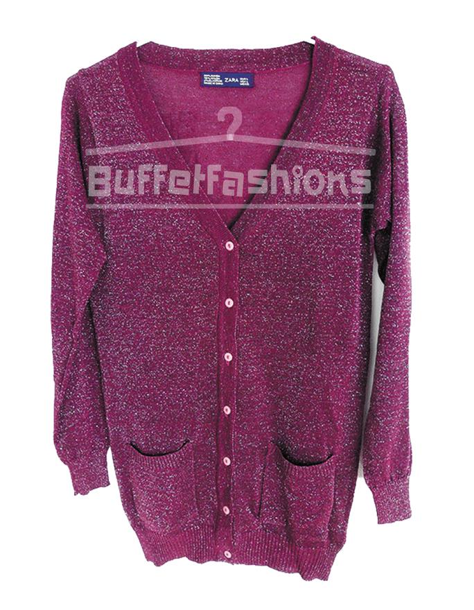 เสื้อคลุมทรงซาร่าวิ๊ง สีม่วง