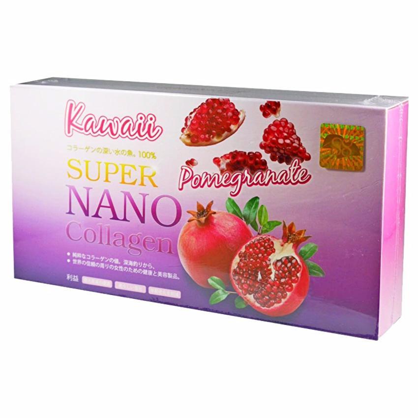 Kawaii SUPER NANO Collagen Pomegranate คาวาอิ ซุปเปอร์ นาโน คอลลาเจน สูตรทับทิม คอลลาเจนกันแดด ขาวใส ไม่กลัวแดด