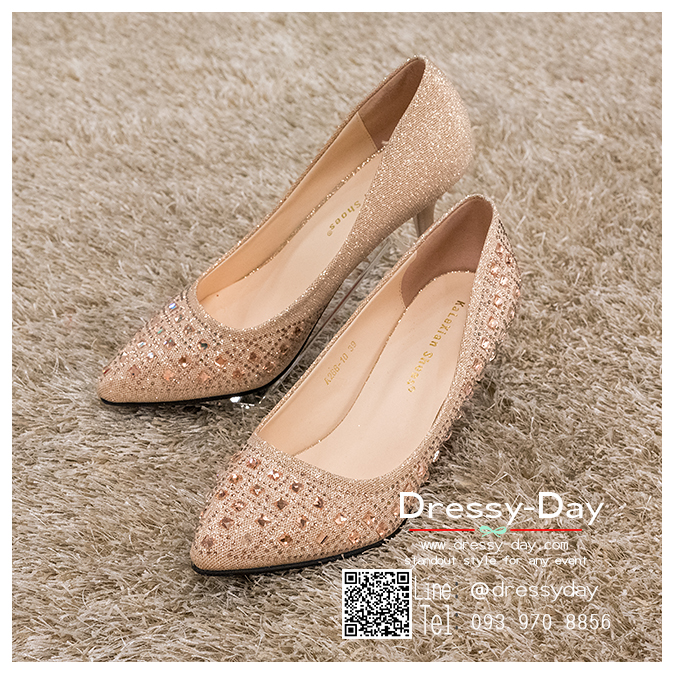 รหัส รองเท้าไปงาน : RR006 รองเท้าเจ้าสาวสีทอง พร้อมส่ง ตกแต่งกริตเตอร์ สวยสง่าดูดีแบบเจ้าหญิง ใส่เป็นรองเท้าคู่กับชุดเจ้าสาว ชุดแต่งงาน ชุดงานหมั้น หรือ ใส่เป็นรองเท้าออกงาน กลางวัน กลางคืน สวยสง่าดูดีมากคะ ราคาถูกกว่าห้างเยอะ