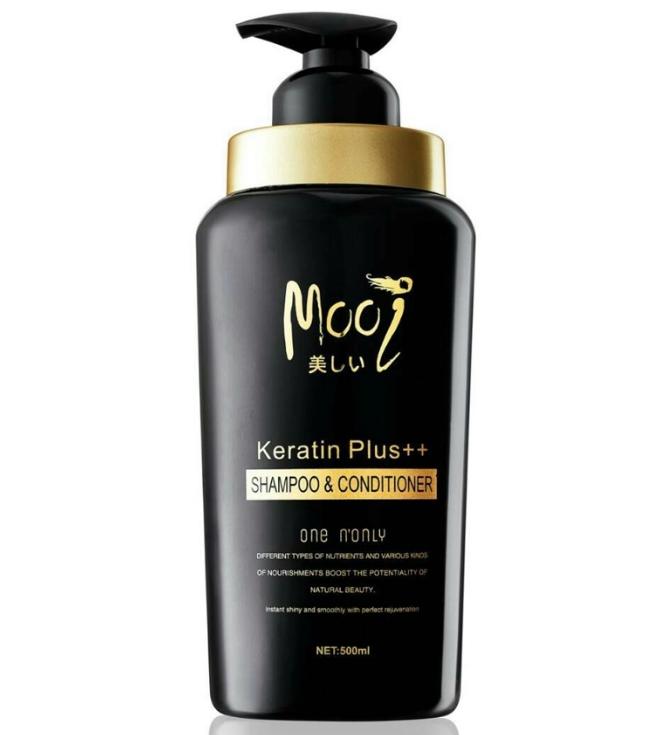 Mooi Keratin Plus++ SHAMPOO & CONDITIONER โมอิ เคราติน พลัส แชมพู แอนด์ คอนดิชันเนอร์ ยิ่งสระ ยิ่งเติมเคราติน ผมยาวไวแบบสุขภาพดี