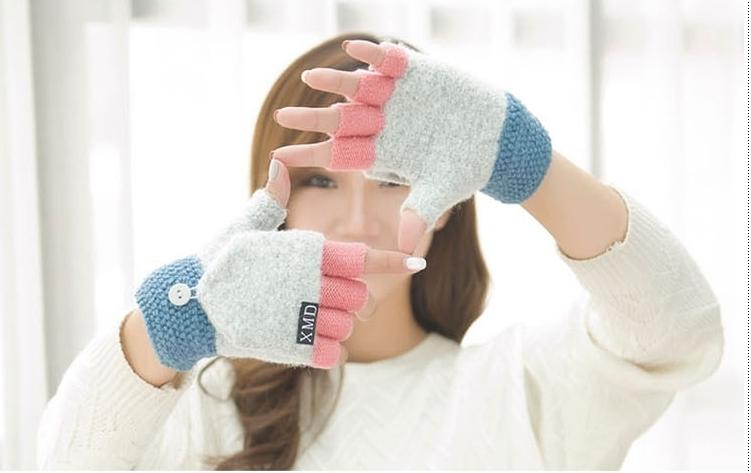 ถุงมือวูลกันหนาวผสมขนสัตว์ มี 6 สี