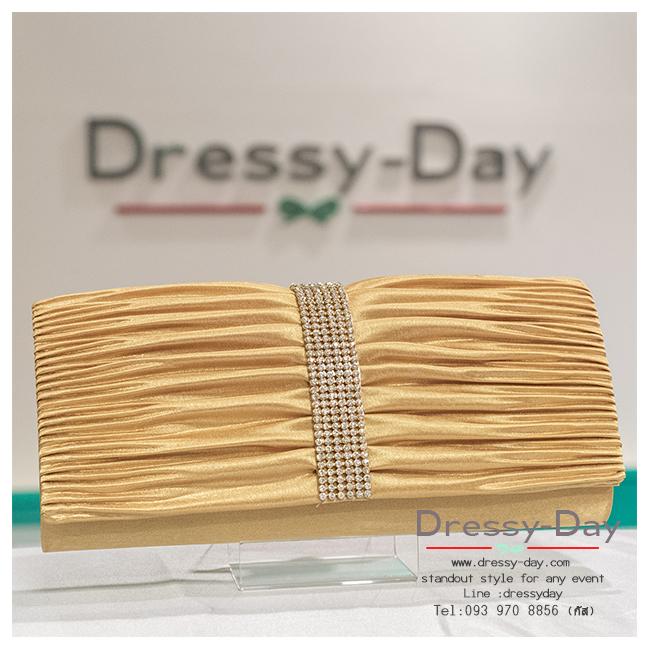 กระเป๋าออกงาน TE025: กระเป๋าออกงานพร้อมส่ง สีทอง ดีเทลเพชร สุดหรู ราคาถูกกว่าห้าง ถือออกงาน หรือ สะพายออกงาน สวย หรู ดูดีมากค่ะ
